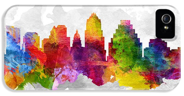 Austin Texas Cityscape 13 IPhone 5 / 5s Case by Aged Pixel