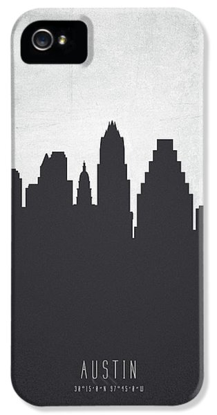 Austin Texas Cityscape 19 IPhone 5 Case by Aged Pixel
