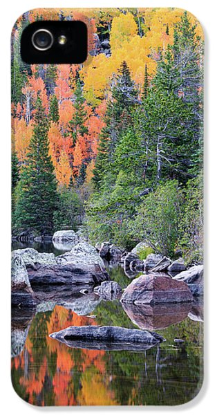 IPhone 5 Case featuring the photograph Autumn At Bear Lake by David Chandler