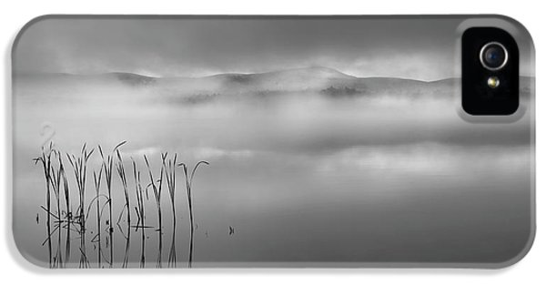 IPhone 5 Case featuring the photograph Autumn Fog Black And White by Bill Wakeley