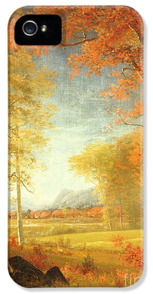 Autumn In America IPhone 5 Case by Albert Bierstadt