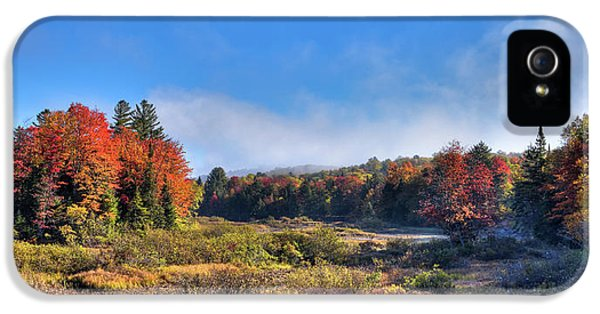 IPhone 5 Case featuring the photograph Autumn Panorama At The Green Bridge by David Patterson