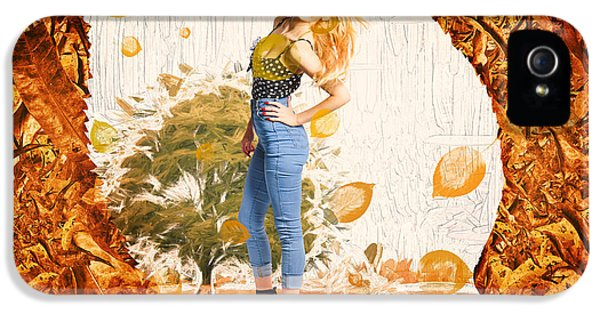 Autumn Postcard Pinup IPhone 5 Case by Jorgo Photography - Wall Art Gallery