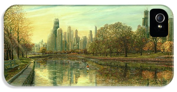 Hancock Building iPhone 5 Case - Autumn Serenity by Doug Kreuger