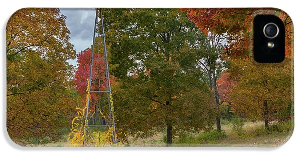 IPhone 5 Case featuring the photograph Autumn Windmill Square by Bill Wakeley