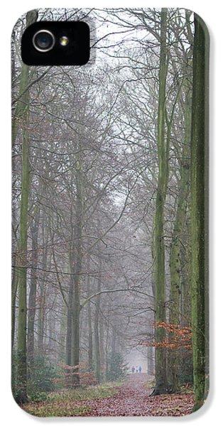 Autumn Woodland Avenue IPhone 5 Case by Gary Eason