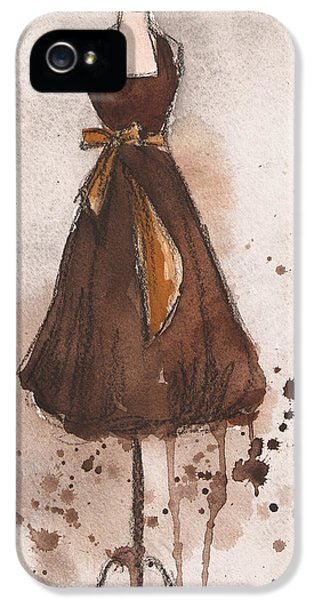 Autumn's Gold Vintage Dress IPhone 5 / 5s Case by Lauren Maurer