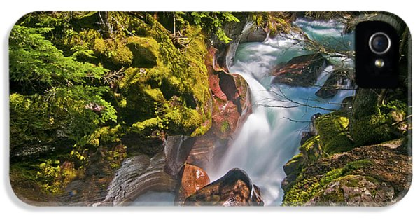 IPhone 5 Case featuring the photograph Avalanche Gorge by Gary Lengyel