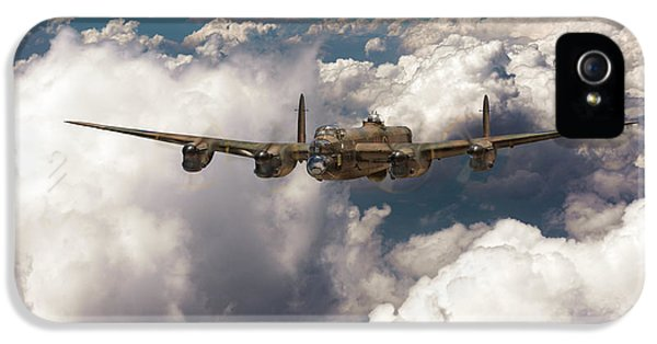 IPhone 5 Case featuring the photograph Avro Lancaster Above Clouds by Gary Eason