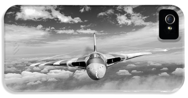 IPhone 5 Case featuring the digital art Avro Vulcan Head On Above Clouds by Gary Eason