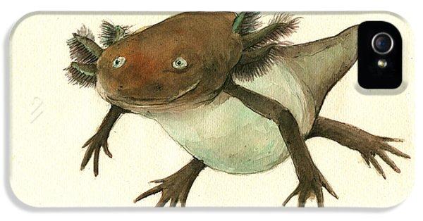Axolotl IPhone 5 Case by Juan Bosco
