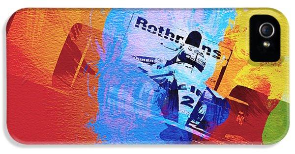 Ayrton Senna IPhone 5 Case by Naxart Studio