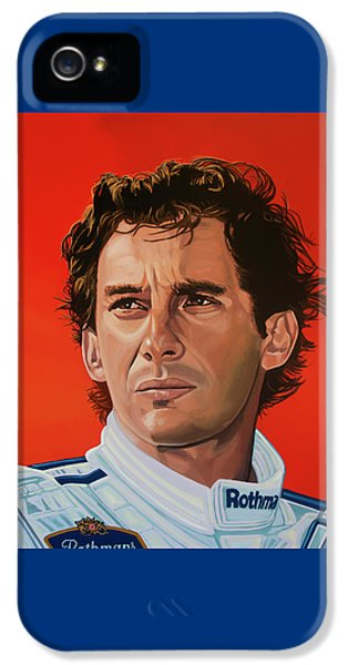 Ayrton Senna Portrait Painting IPhone 5 Case by Paul Meijering