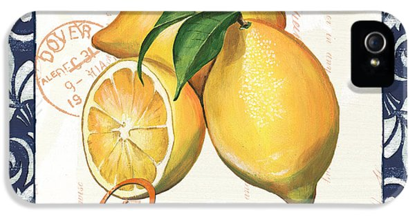Lemon iPhone 5 Case - Azure Lemon 2 by Debbie DeWitt