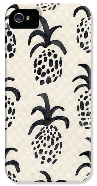 B And W Pineapple Print IPhone 5 Case by Anne Seay