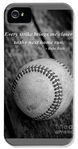 Babe Ruth Baseball Quote IPhone 5 Case