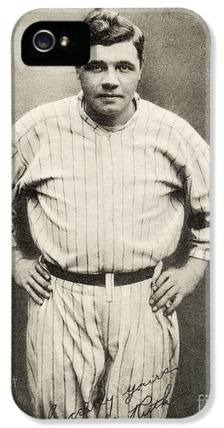 Babe Ruth Portrait IPhone 5 Case