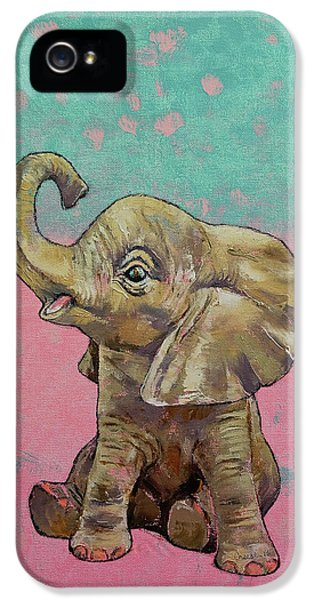 Baby Elephant IPhone 5 Case by Michael Creese
