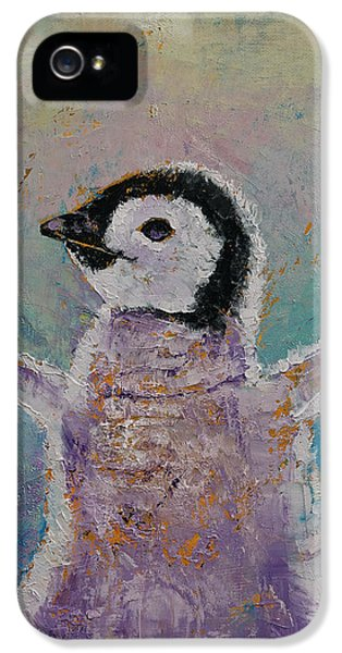 Baby Penguin IPhone 5 Case by Michael Creese