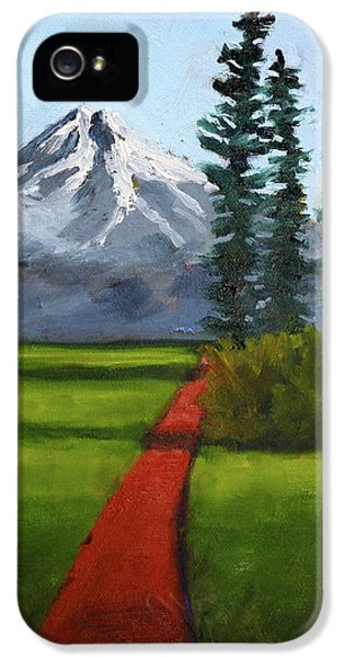 IPhone 5 Case featuring the painting Baker Meadow by Nancy Merkle