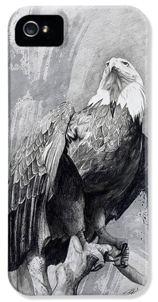 Bald Eagle Drawing IPhone 5 Case