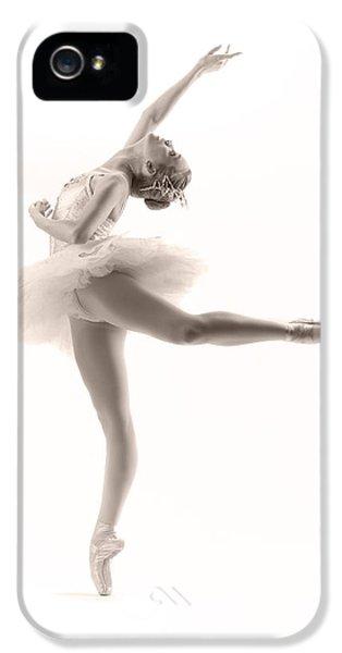 White iPhone 5 Case - Ballerina by Steve Williams