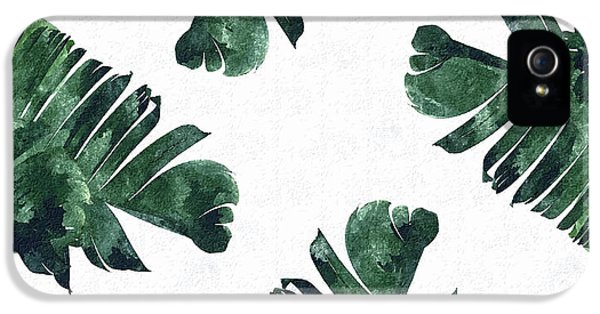 Banan Leaf Watercolor IPhone 5 Case by Uma Gokhale