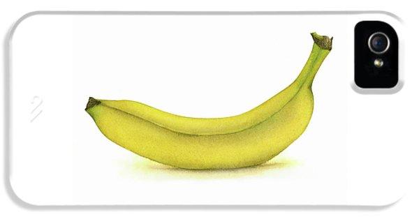 Banana Watercolor IPhone 5 Case by Taylan Apukovska