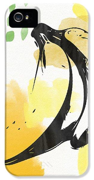 Orange iPhone 5 Case - Bananas- Art By Linda Woods by Linda Woods