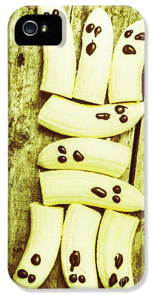 Bananas With Painted Chocolate Faces IPhone 5 Case by Jorgo Photography - Wall Art Gallery