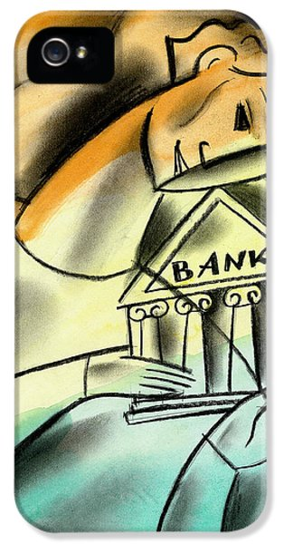 Banking IPhone 5 Case by Leon Zernitsky