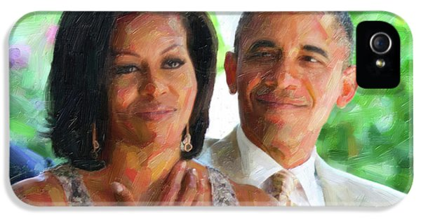 Barack And Michelle Obama IPhone 5 Case by Celestial Images