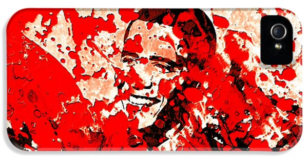Barack Obama 44b IPhone 5 Case by Brian Reaves