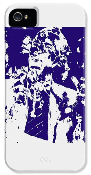 Barack Obama Paint Splatter 4a IPhone 5 Case by Brian Reaves