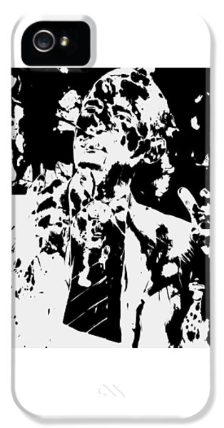 Barack Obama Paint Splatter 4b IPhone 5 Case by Brian Reaves