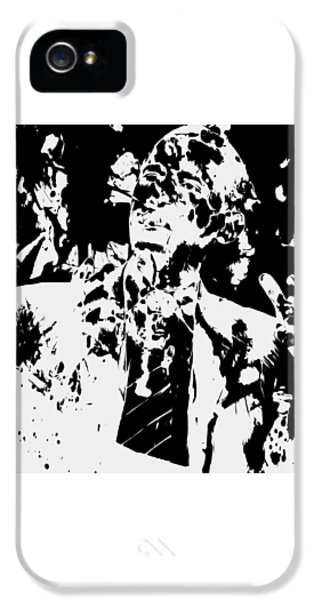 Barack Obama Paint Splatter 4b IPhone 5 / 5s Case by Brian Reaves