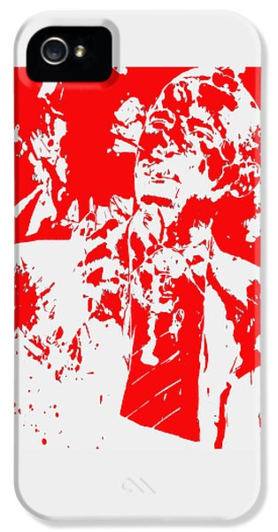 Barack Obama Paint Splatter 4d IPhone 5 Case by Brian Reaves