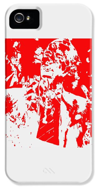 Barack Obama Paint Splatter 4d IPhone 5 / 5s Case by Brian Reaves