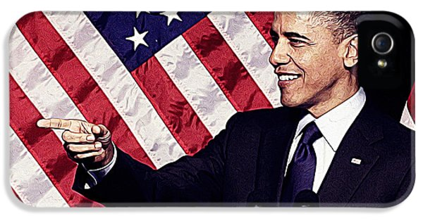 Barack Obama IPhone 5 Case by Iguanna Espinosa