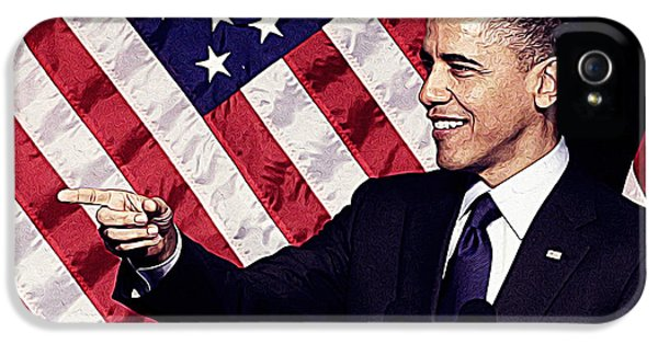 Barack Obama IPhone 5 Case by Iguanna Espinosa