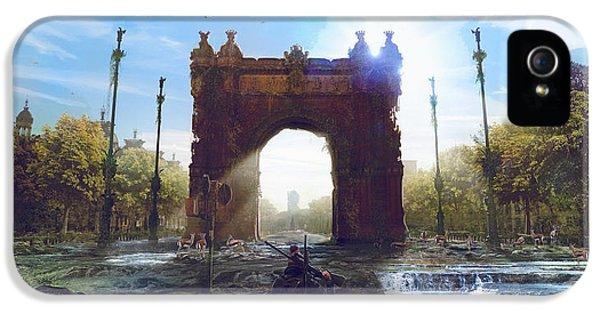 Barcelona Aftermath Arc De Triomf IPhone 5 Case by Guillem H Pongiluppi