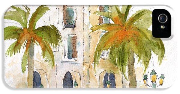 Barcelona Plaza IPhone 5 Case by Pat Katz