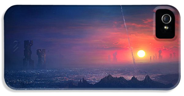 Barcelona Smoke And Neons Montserrat IPhone 5 Case by Guillem H Pongiluppi