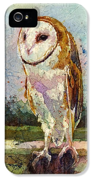 Barn Owl IPhone 5 Case by Hailey E Herrera