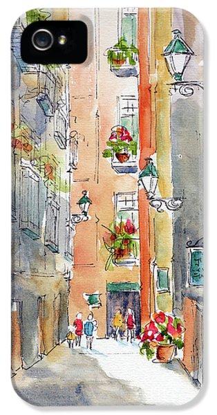 Barrio Gotico Barcelona IPhone 5 Case by Pat Katz