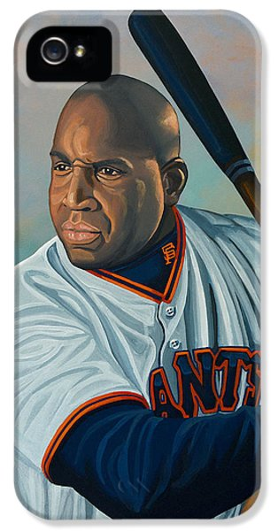 Softball iPhone 5 Case - Barry Bonds by Paul Meijering