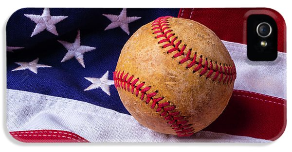 Baseball And American Flag IPhone 5 Case by Garry Gay