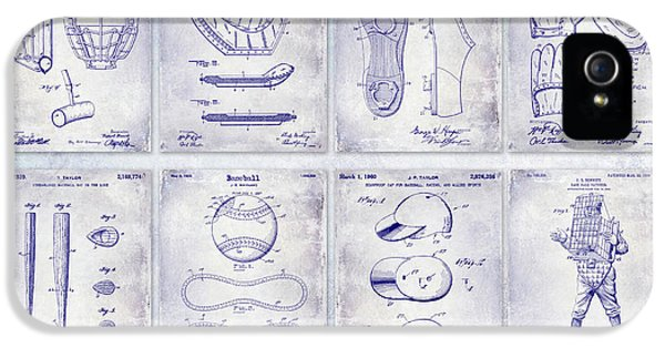Baseball Patent History Blueprint IPhone 5 Case