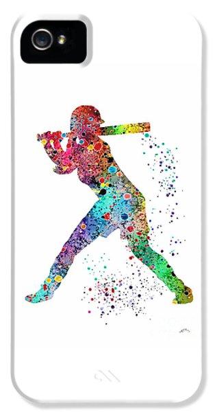 Softball iPhone 5 Case - Baseball Softball Player by Svetla Tancheva