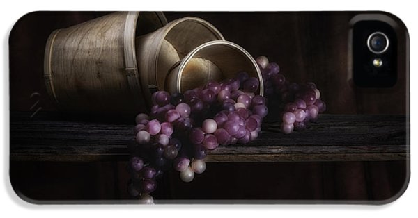Basket Of Grapes Still Life IPhone 5 Case by Tom Mc Nemar